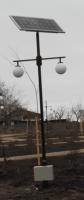 Stalp iluminat fotovoltaic, model ICN 2X5W model 3,5 metri 1 panou 50W