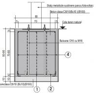 Stalp iluminat fotovoltaic, model ICN 1X10W model 3,5 metri 1 panou 50W